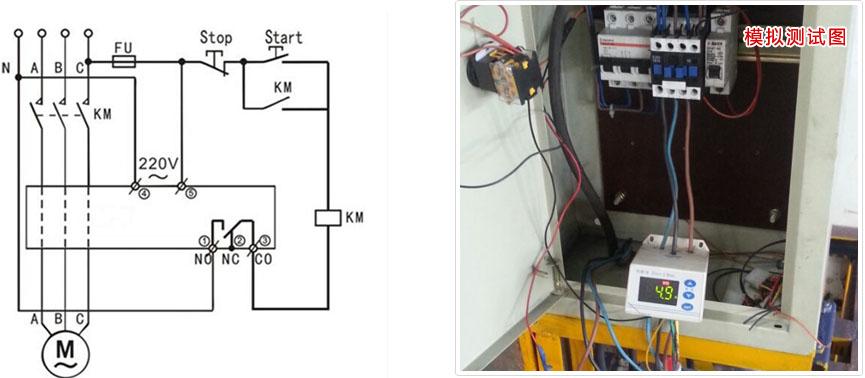 电机保护器接线图展示